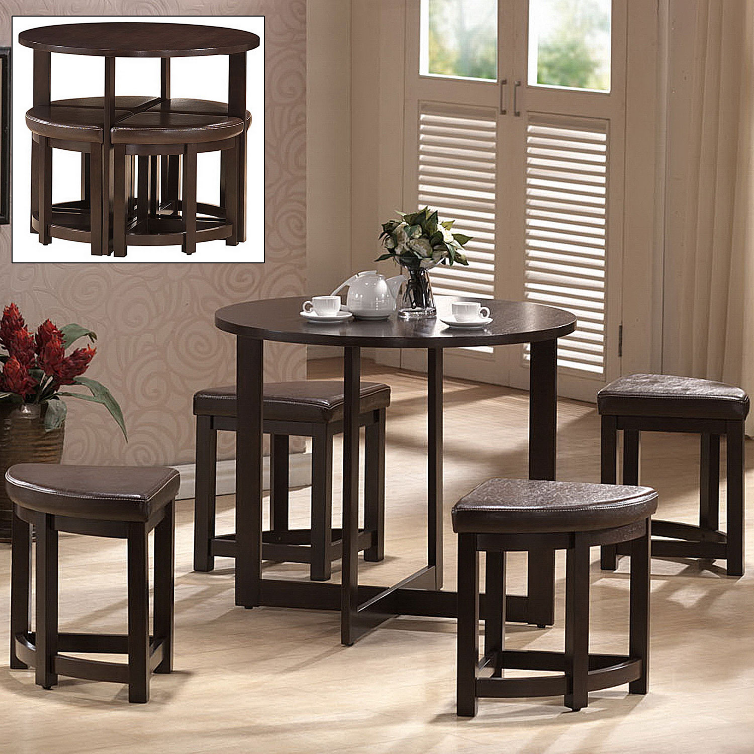 Bar Stools And Table Set Rochester Bar Table Set With Nesting Stools In Bar Table Sets