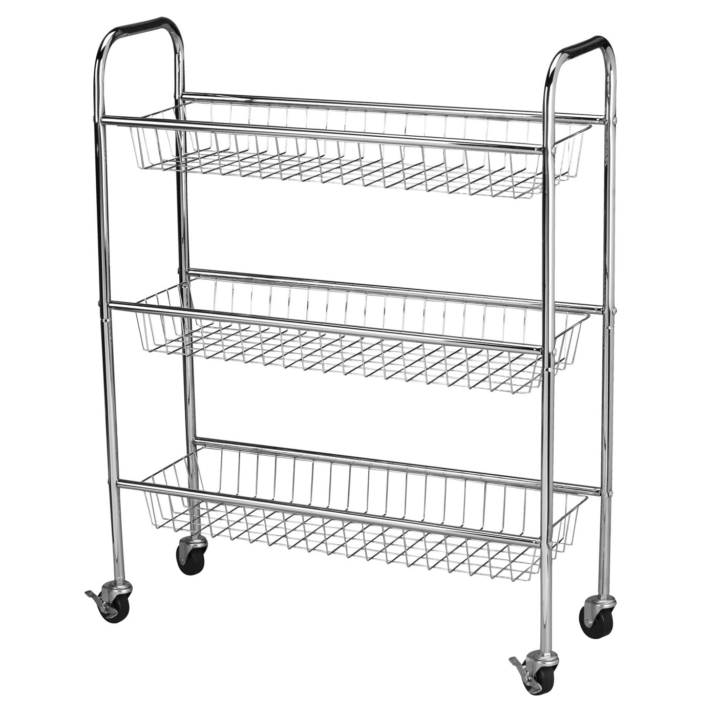 Chrome Laundry Basket Laundry Cart 3 Tier In Laundry Carts