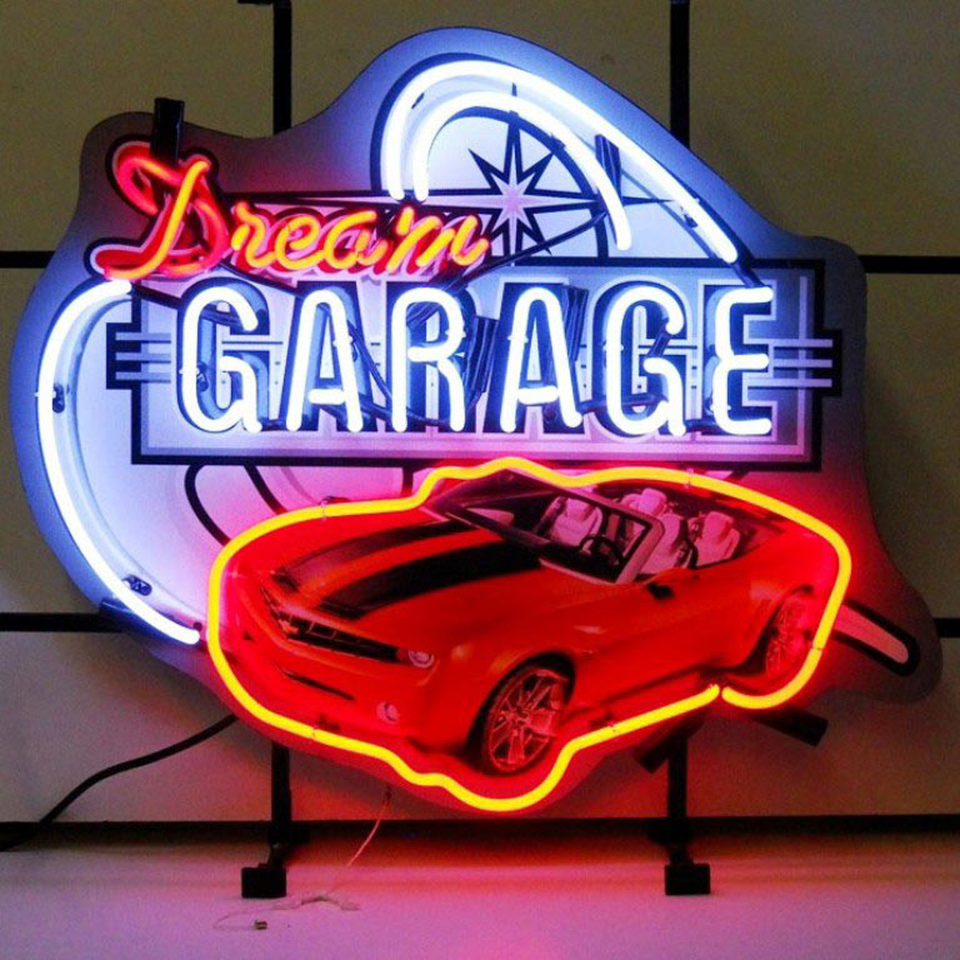 Garage Art Neon Signs Dream Garage Camaro Neon Sign By Neonetics In Neon Signs