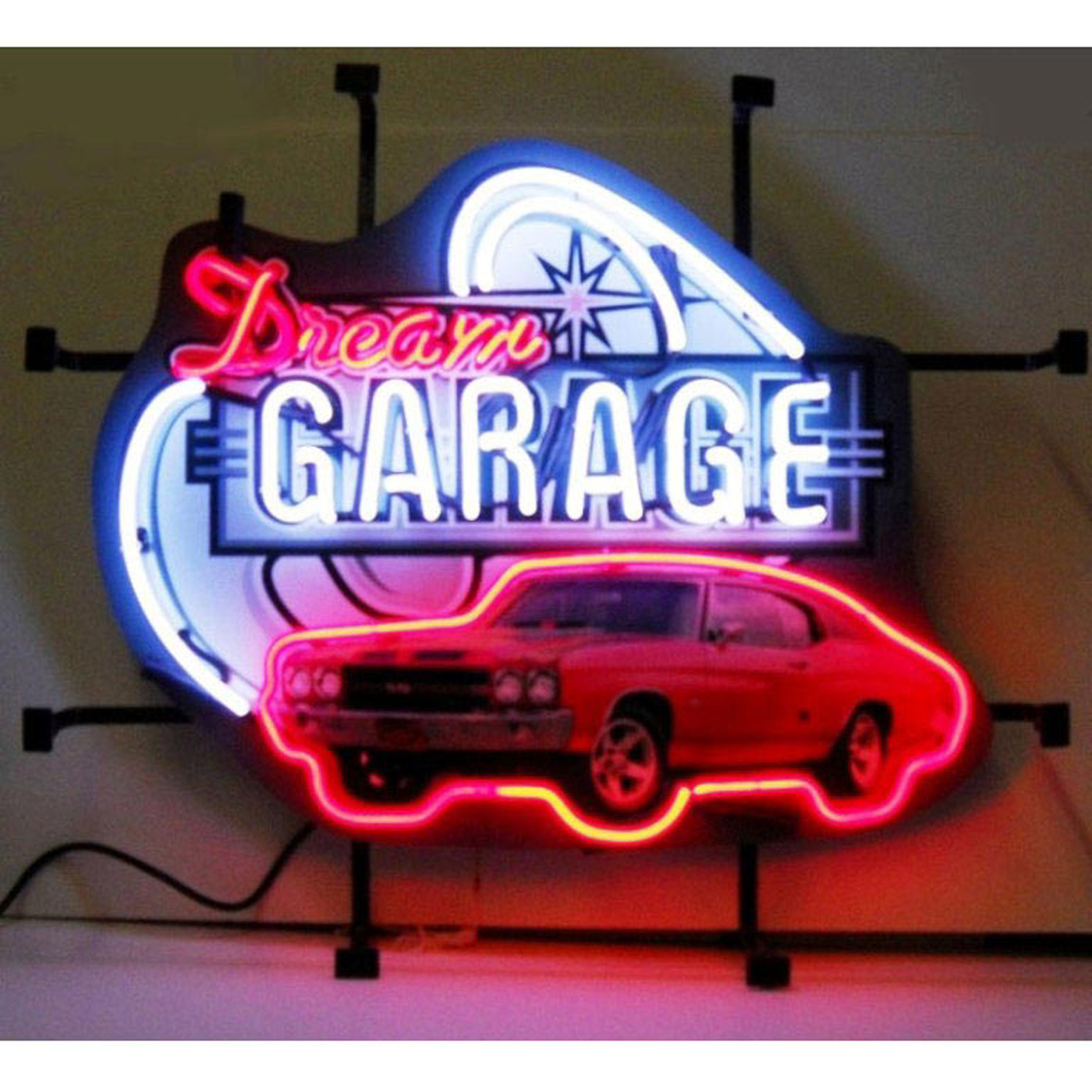 Garage Art Neon Signs Dream Garage Chevy Chevelle Ss Neon Sign By Neonetics In