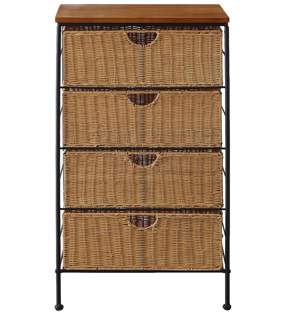 In Cabinet Drawers 4 Drawer Wicker Wire Cabinet In Storage Drawers