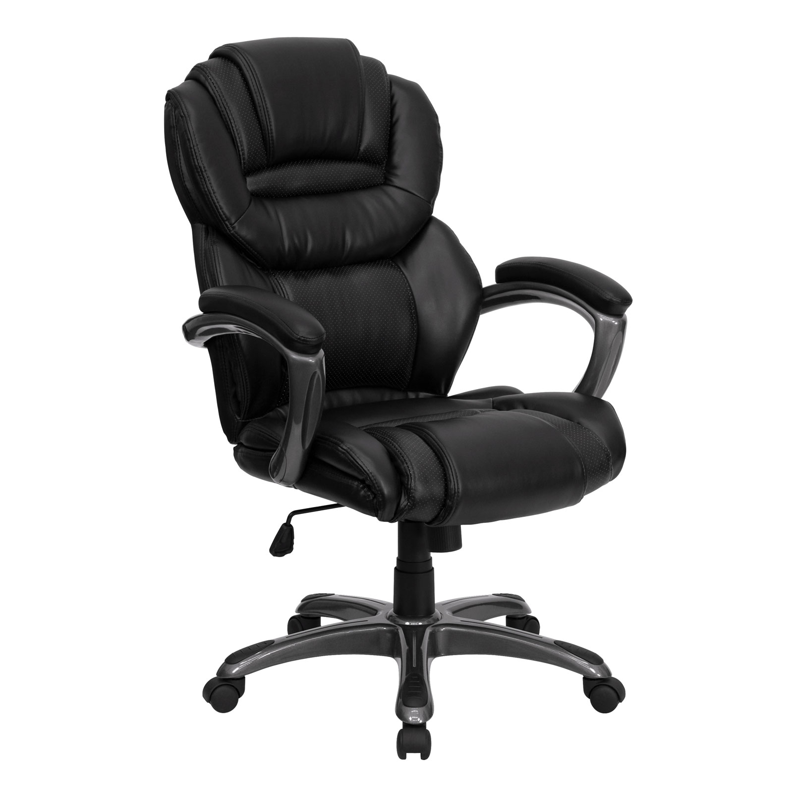 High Back Desk Chair High Back Leather Office Chair In Office Chairs