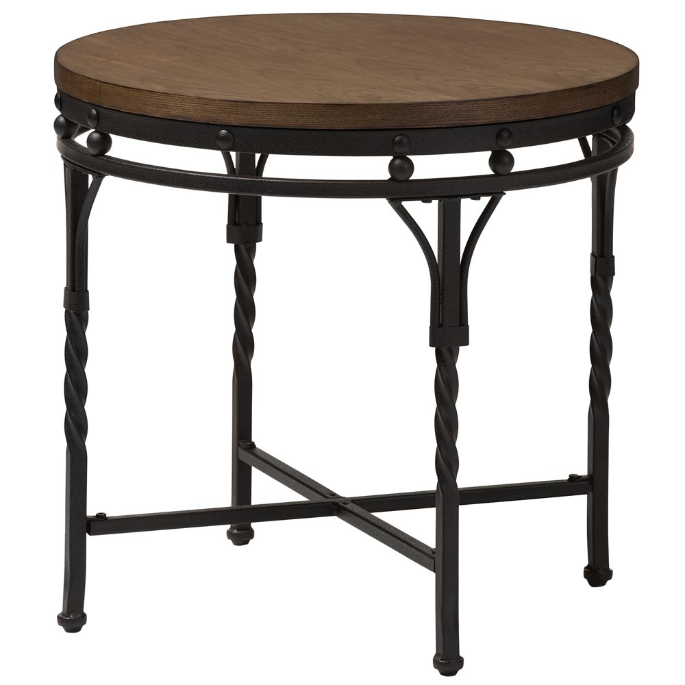 Industrieel Sidetable Industrial Round End Table In Side Tables