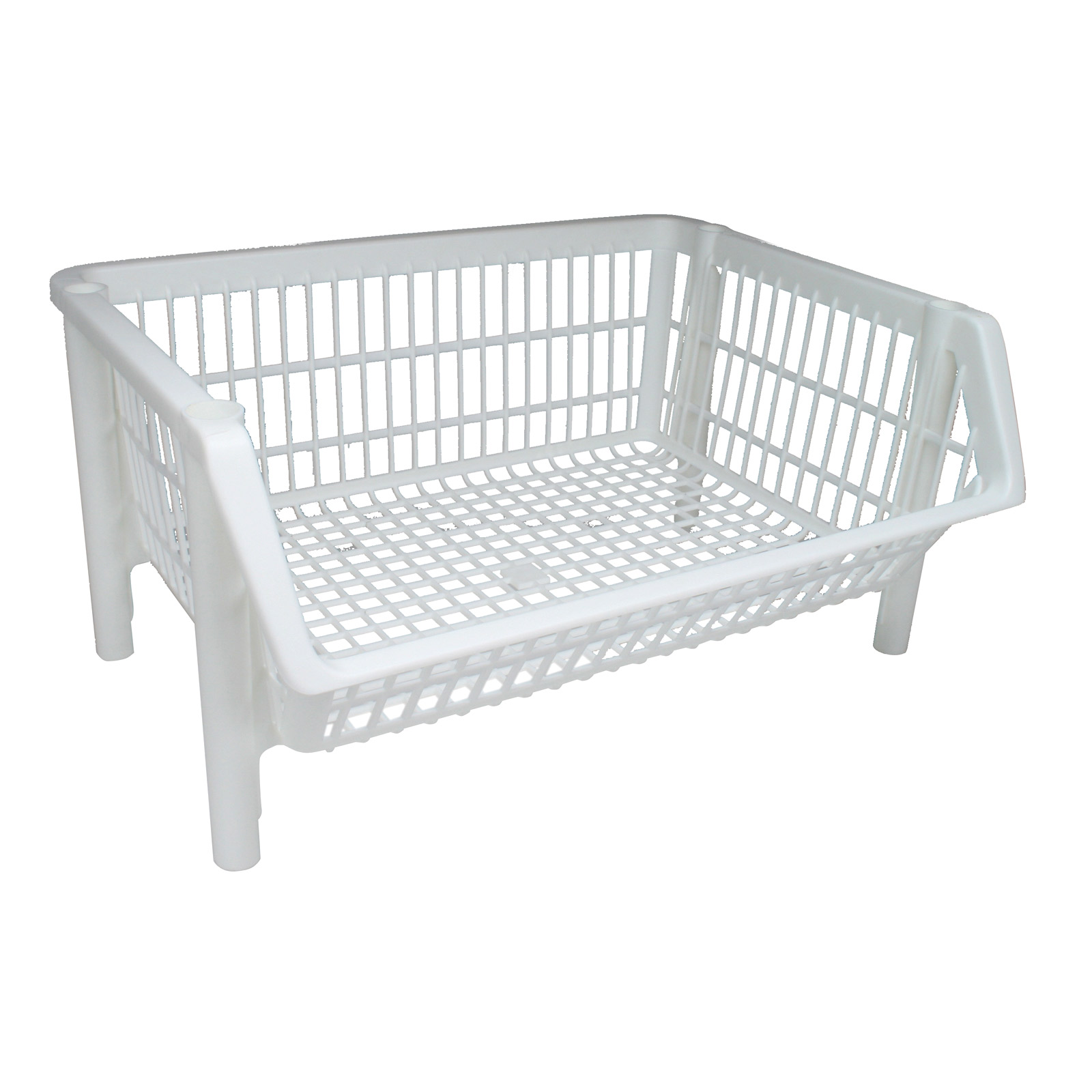 Stackable Storage Bins Iris Stackable Plastic Storage Basket White In Plastic