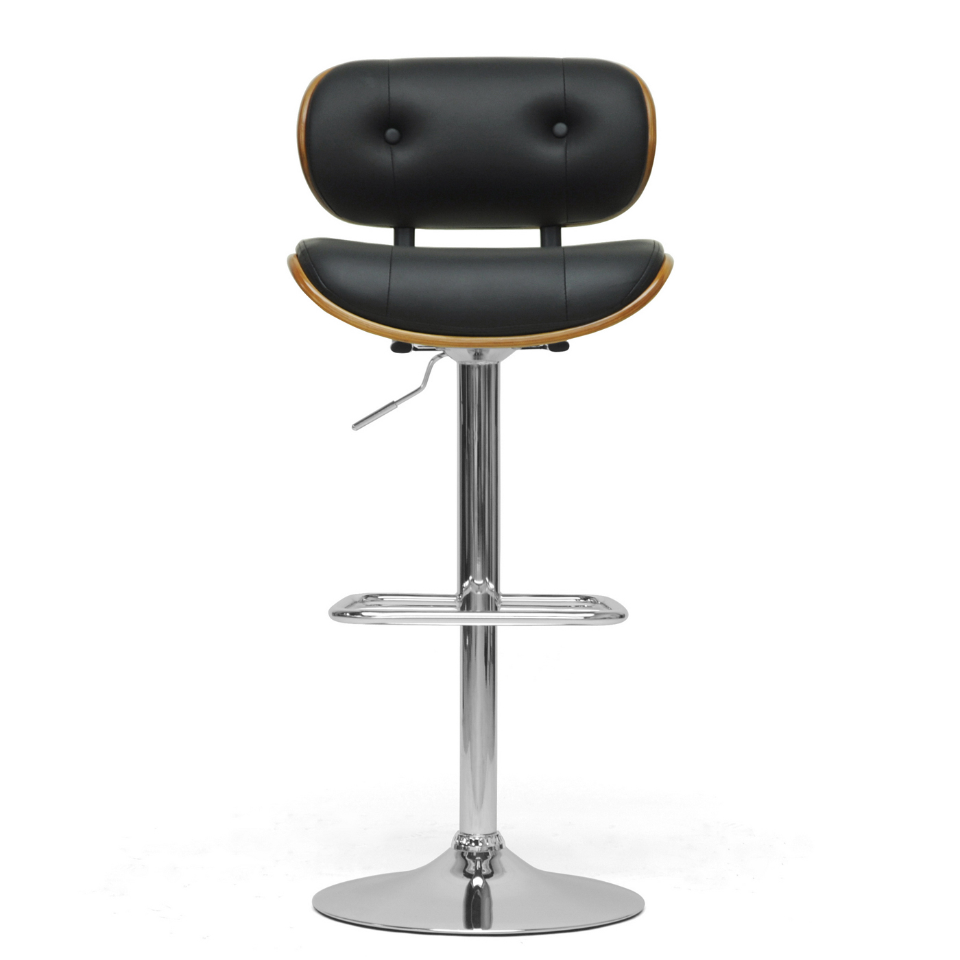 Contemporary Bar Stools Contemporary Bar Stool Walnut And Black In Modern Bar Stools