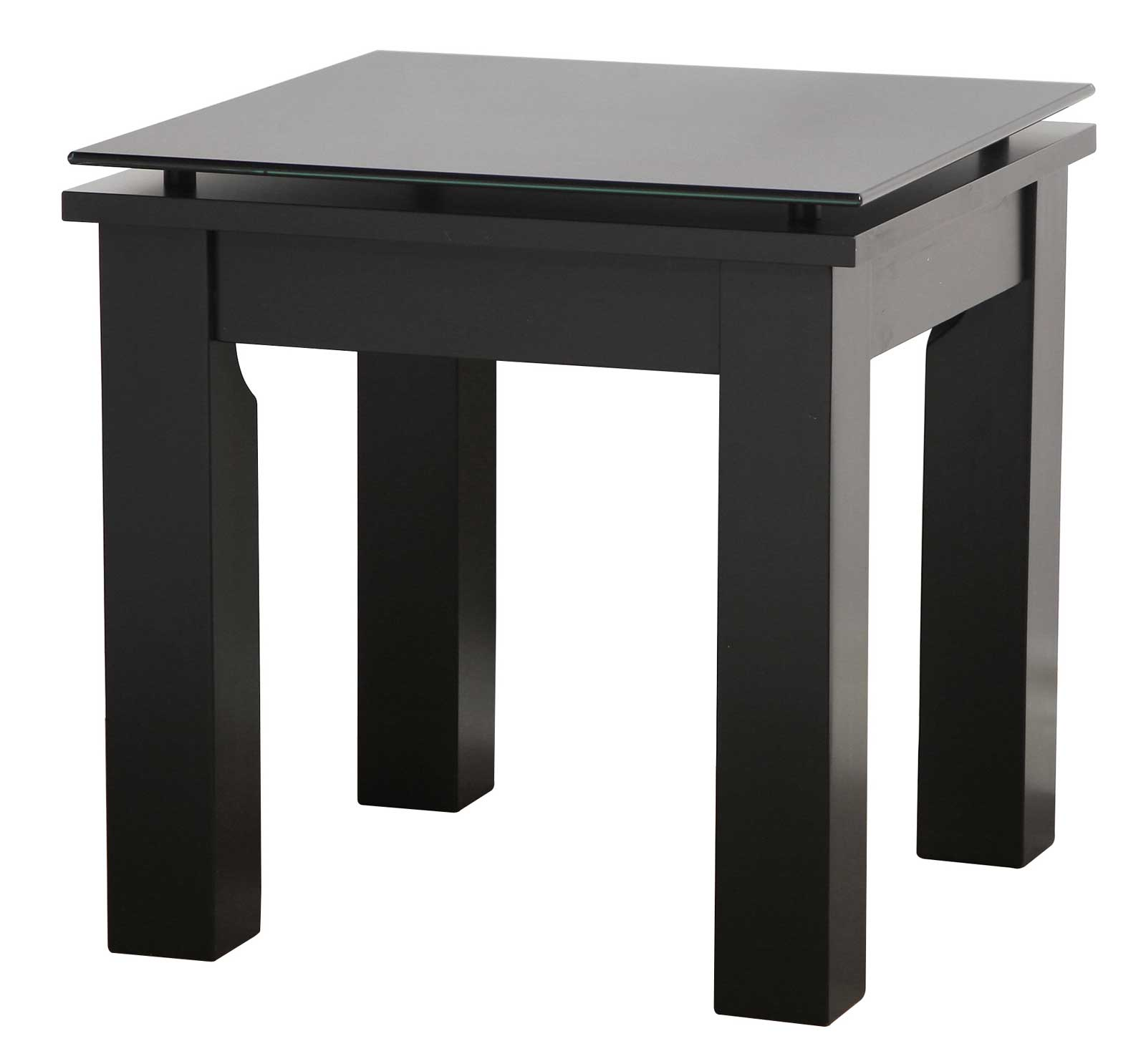 Square Glass End Tables Modern Glass Top Square End Table In Side Tables