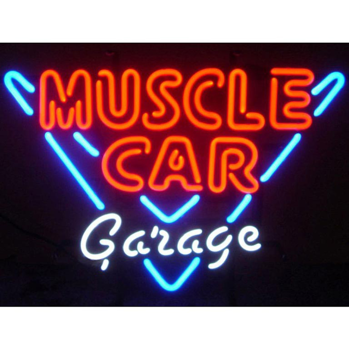 Garage Art Neon Signs Muscle Car Garage Neon Sign In Neon Signs