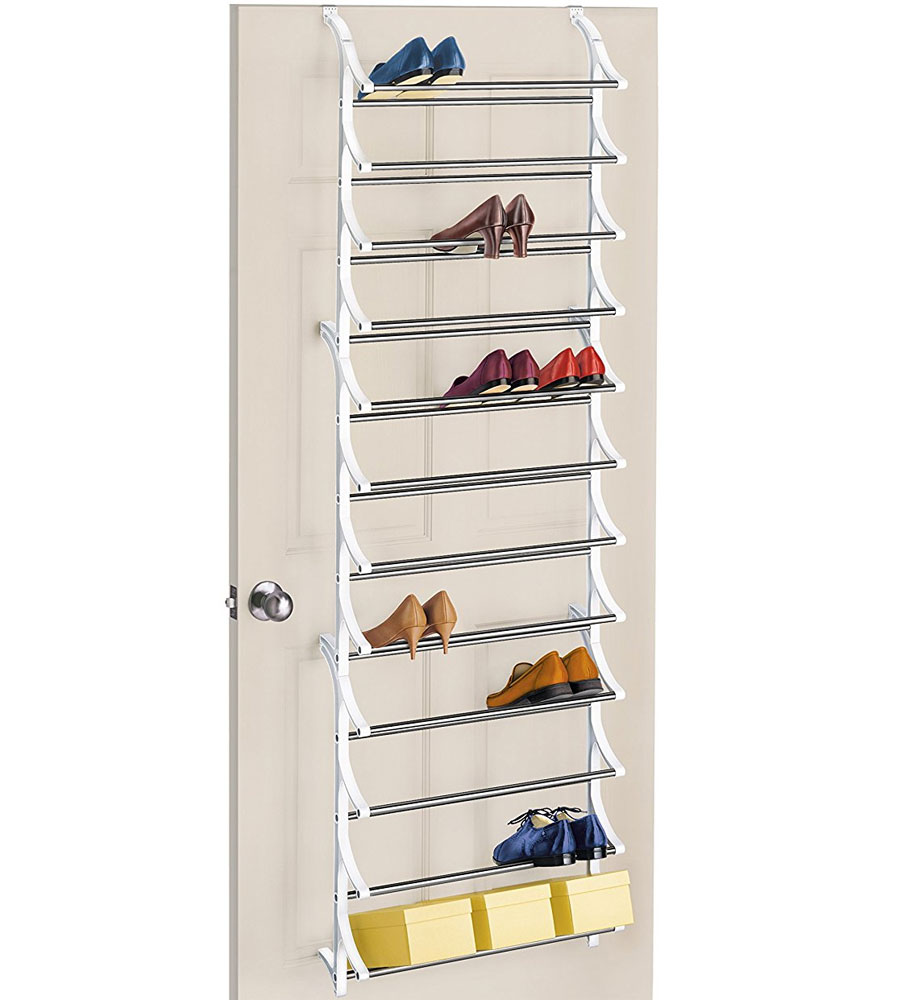 College Dorm Organizers 36 Pair Over Door Shoe Rack In Over The Door Shoe Racks