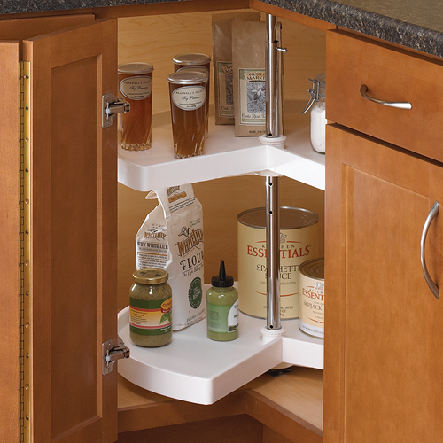 Kitchen Cabinet Hardware For White Cabinets 18 Inch Cabinet Lazy Susan - White - Kidney-shaped In