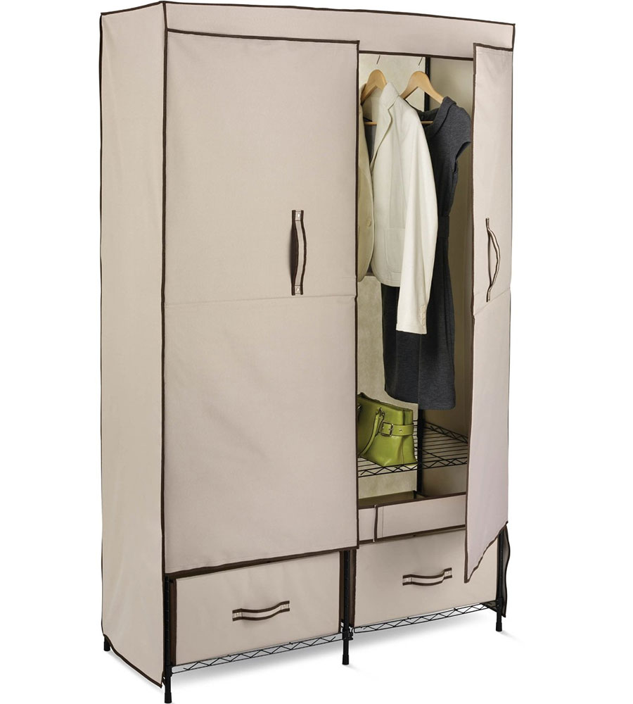 Clothes Storage Portable Storage Closet In Clothing Racks And Wardrobes