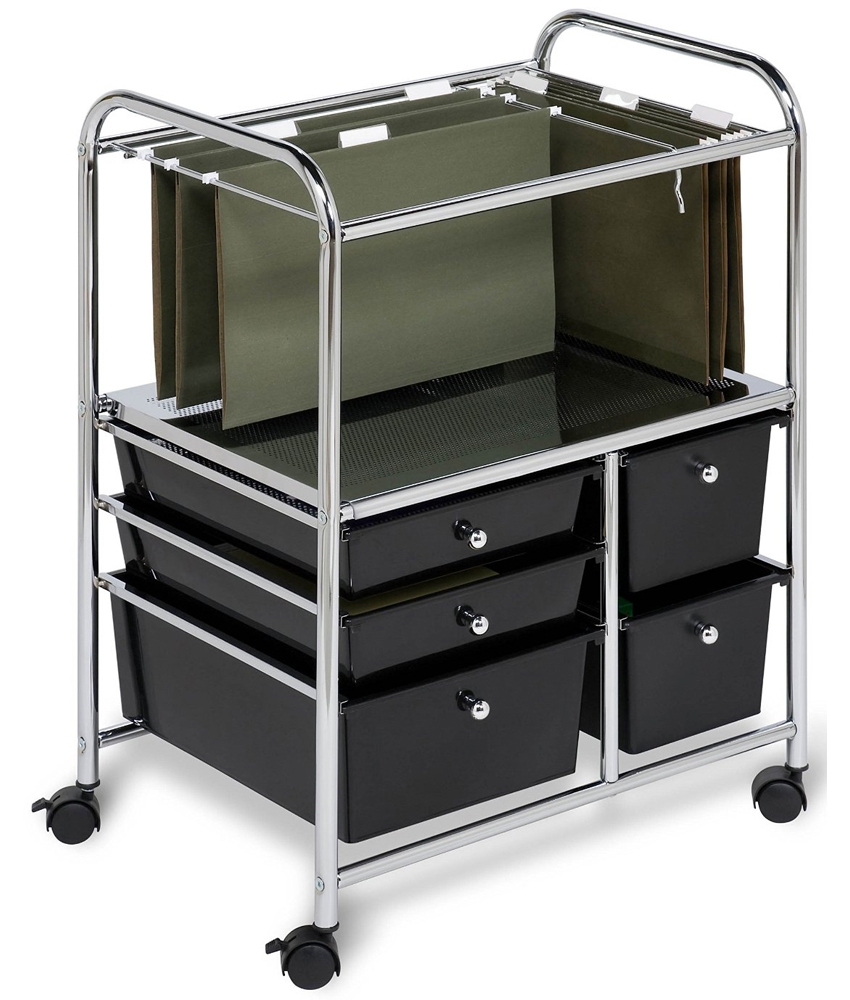 Rolling Filing Cabinets Rolling File Cart Black In File Cabinets