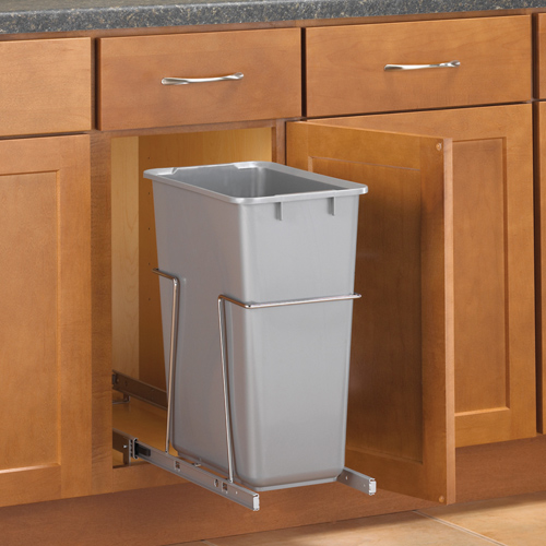 Meuble Coulissant Pull-out Cabinet Trash Can - 30 Quart In Cabinet Trash Cans