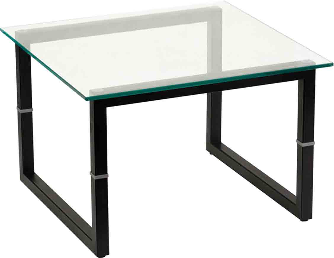 Square Glass End Tables Square Frame Glass End Table By Flash Furniture In Side Tables
