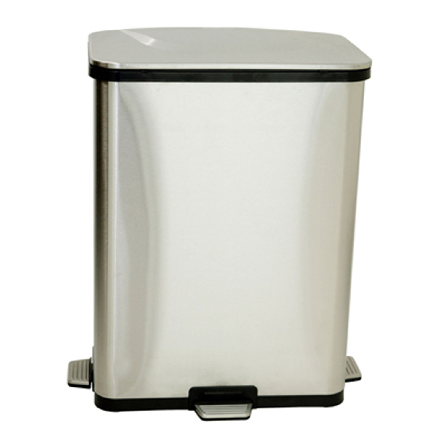 Corner Stainless Steel Trash Can Step Sensor Trash Can By Itouchless In Kitchen Trash Cans