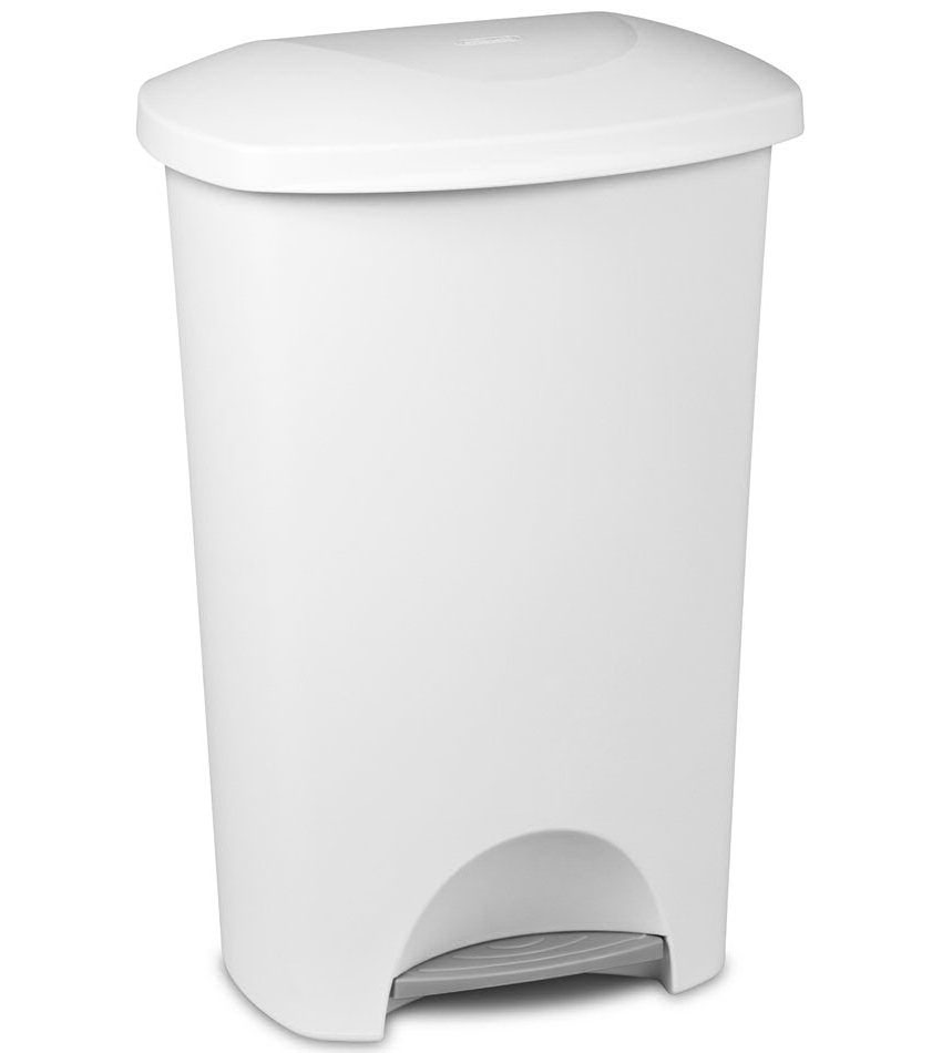 Laundry Trash Cans Sterilite Step On Trash Can 11 Gallon In Kitchen Trash Cans