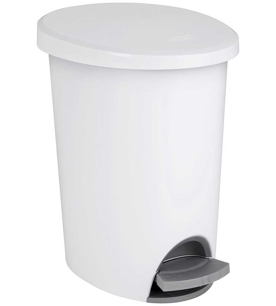 Small White Trash Can With Lid Sterilite Step On Trash Can In Small Trash Cans