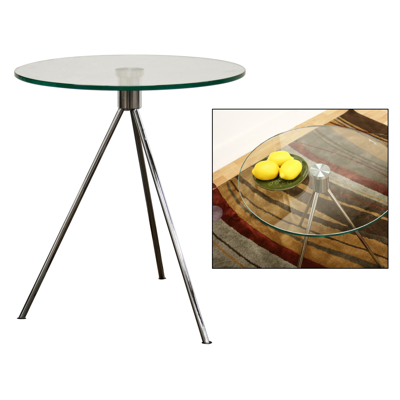 Round Glass Top End Tables Round Glass Top End Table In Side Tables