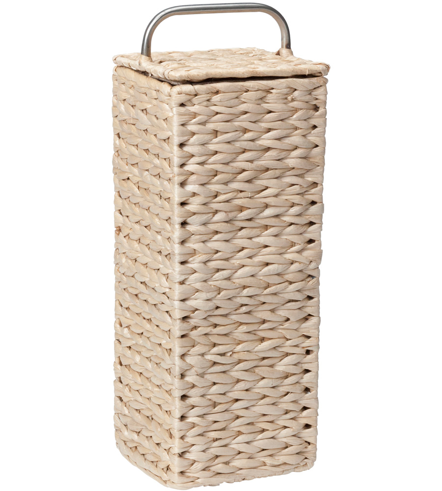 Covered Toilet Paper Storage Wicker Toilet Paper Holder In Toilet Paper Storage