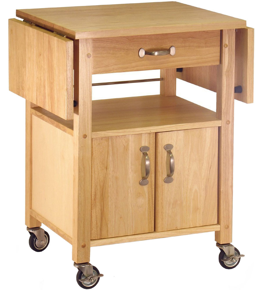 Kitchen Island With Locking Casters Wood Kitchen Cart With Drawer In Kitchen Island Carts