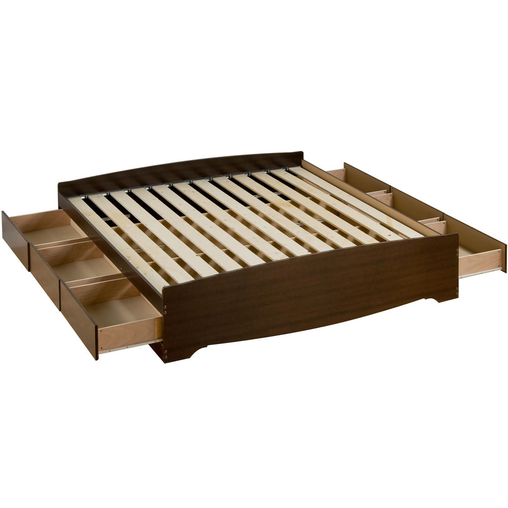 King Size Platform Bed With Storage Platform Storage Bed - King Sized In Beds And Headboards