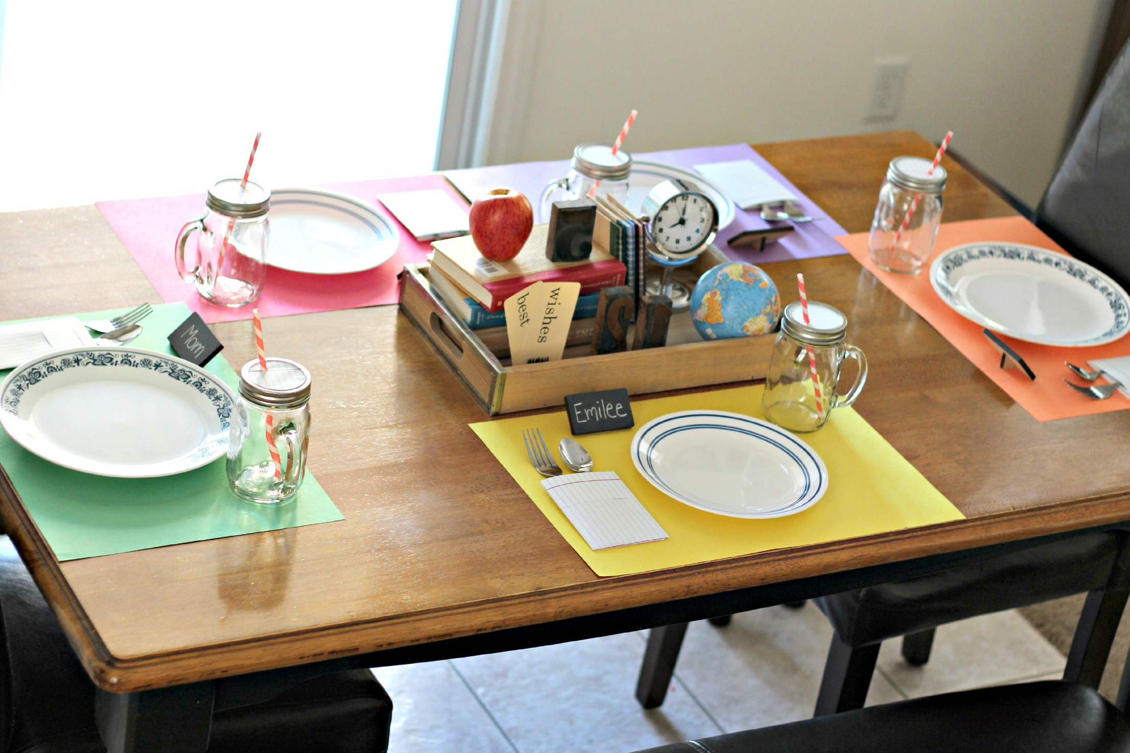 simple table setting for kids