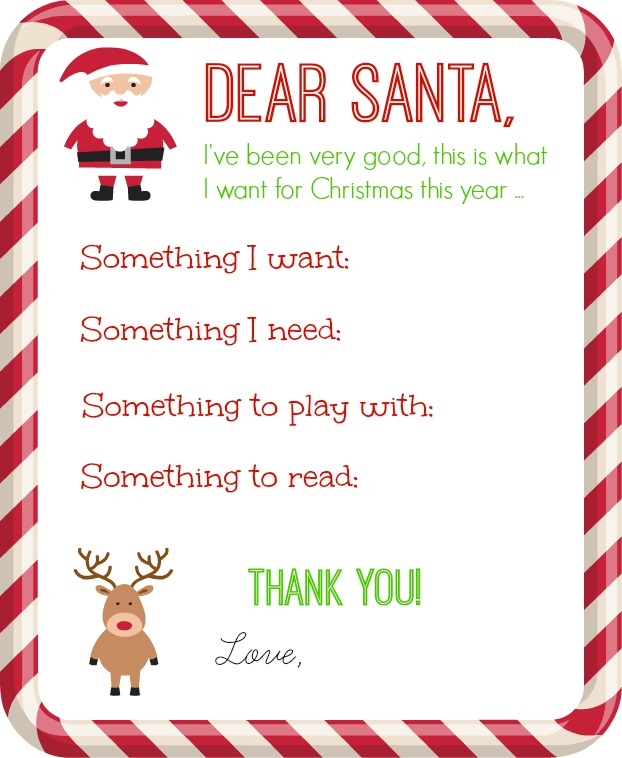 Dear Santa Letter Printable - Organize and Decorate Everything