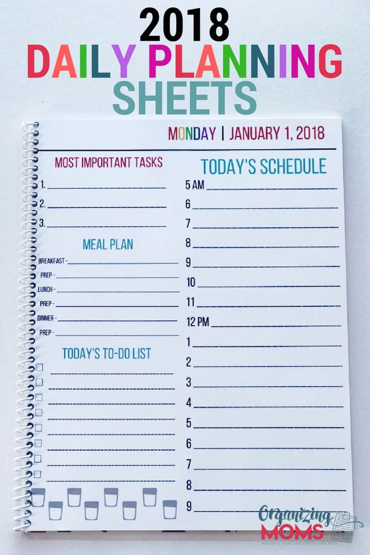 menu planning sheets