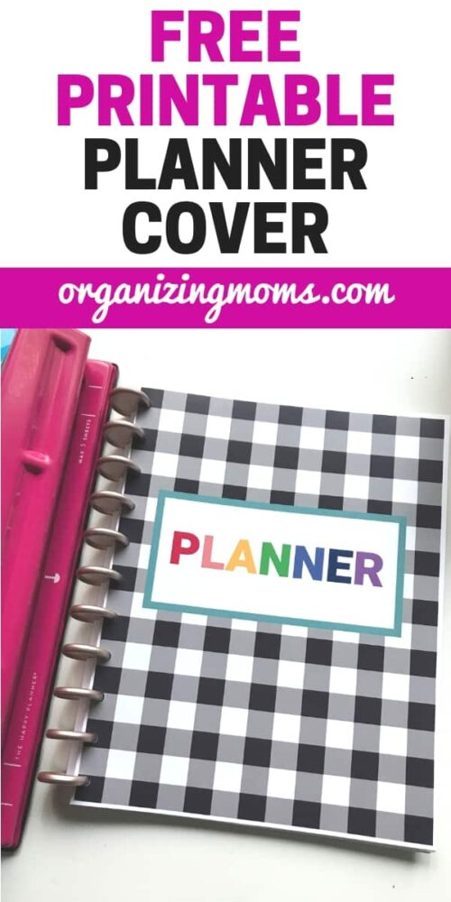 Free Printable Binder Cover - Full-Size Planner Cover - Organizing Moms