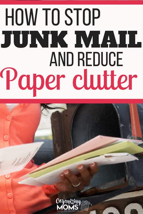 How to Opt Out of Junk Mail - Organizing Moms