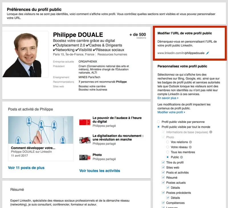comment publier son cv sur linked in