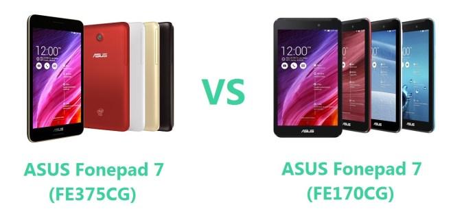 Asus Fonepad 7 FE375CG VS FE170CG