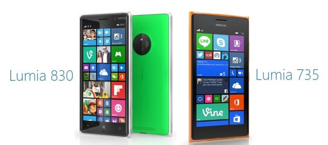 lumia 830 lumia 735