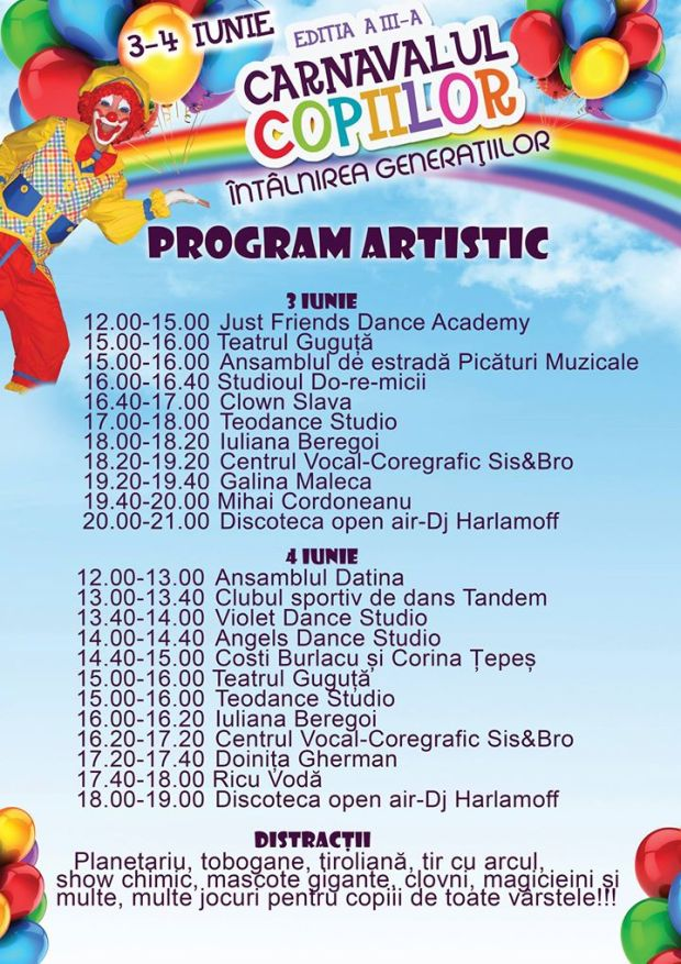 carnavalul copiilor program