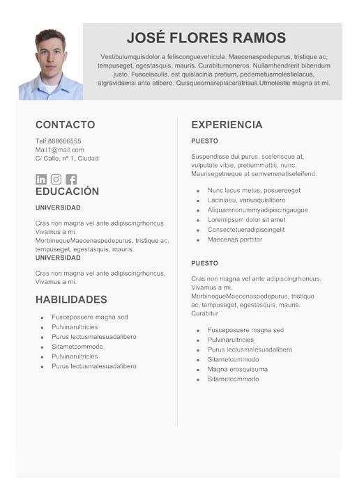 15 Plantillas de currículum para descargar gratis InfoJobs