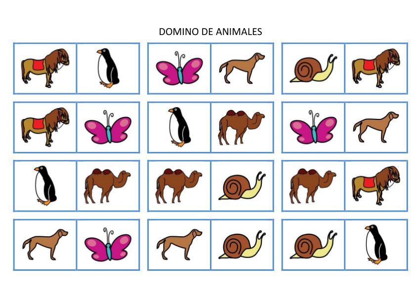 Fichas para trabajar la atenci n dominos orientacion andujar for Fichas de domino