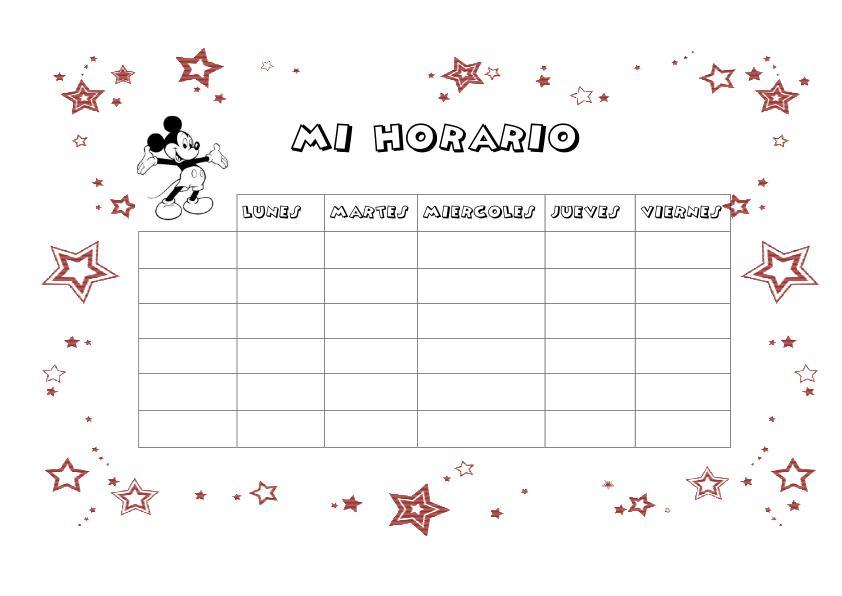 Cuaderno de trabajo, memonotas, plantillas semanales, horarios