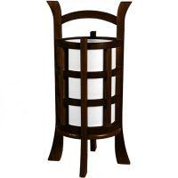 Japanese Lamps :: Japanese Design Lamp (Walnut Finish)