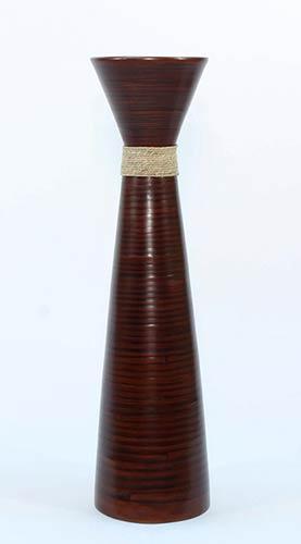 Large Floor Vases 36quot Fluted Bamboo Floor Vase Brown
