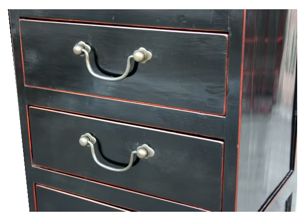 Black Chest Of Drawers Oriental Style Filing Cabinet