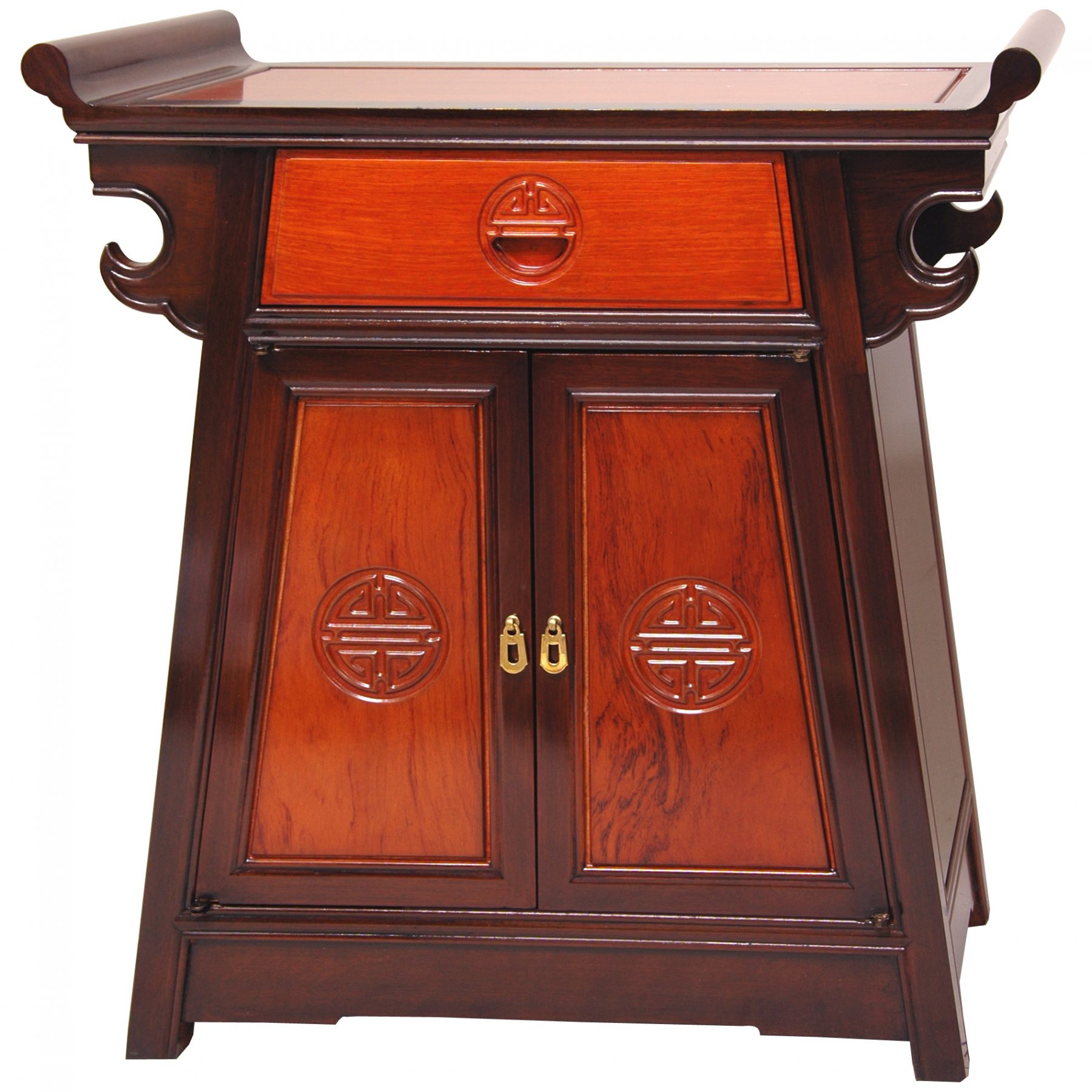 Asian Furniture Oriental Furniture Rosewood Altar Cabinet - Two-tone | Ebay