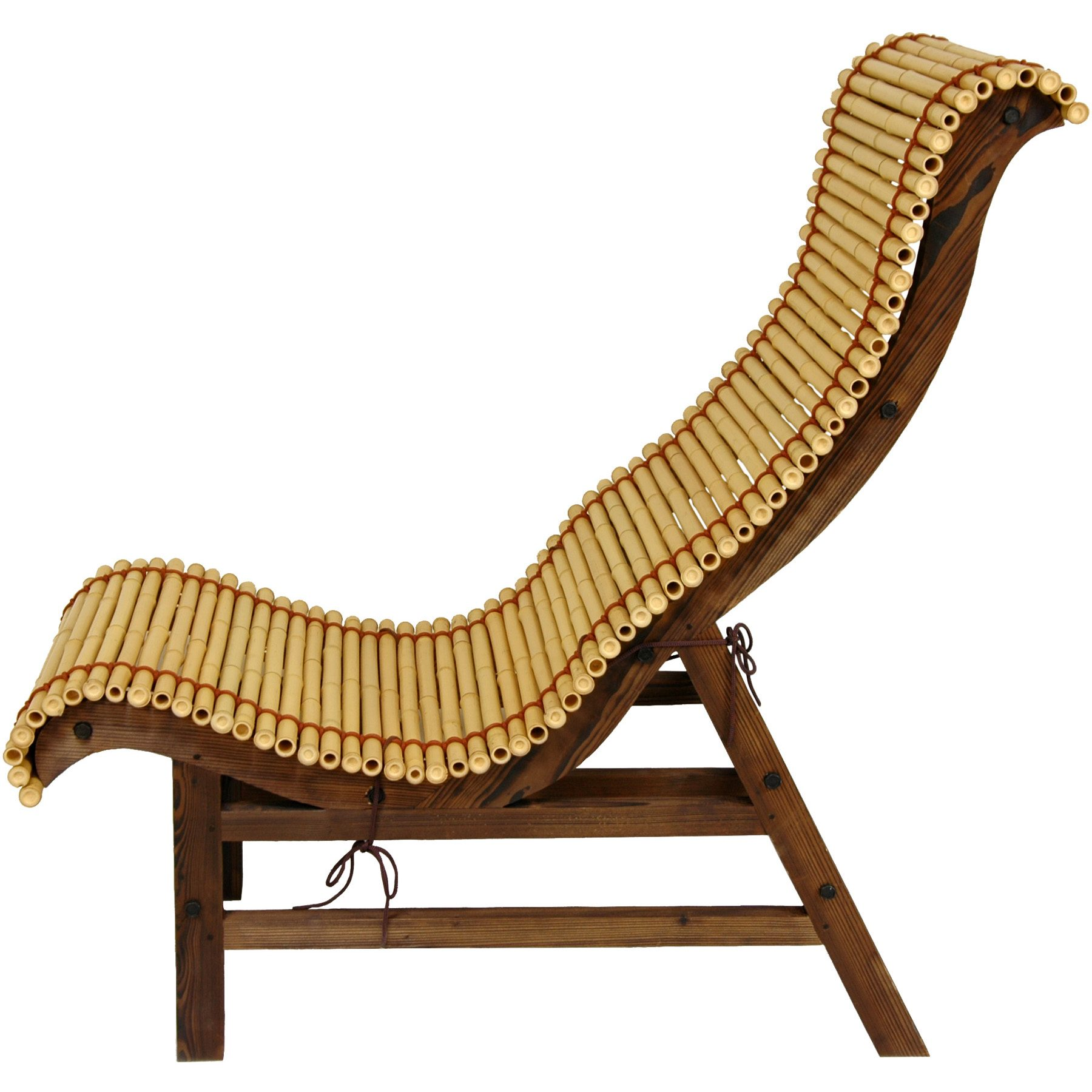 Curved Lounges Oriental Furniture Curved Japanese Bamboo Lounge Chair Ebay