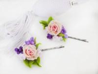 Rose Flower Hair Pins For Weddings - Artificial Flowers ...