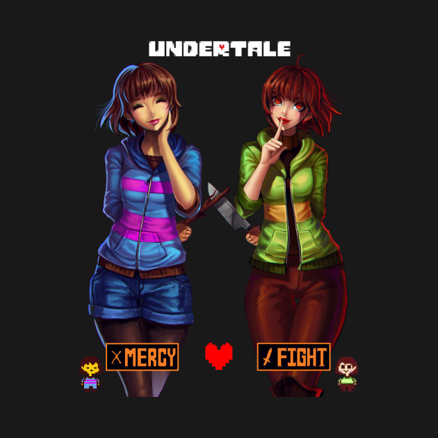 Cute Undertale Determination Wallpapers Chara And Frisk X Male Reader Part 2 By Pktrainerred On
