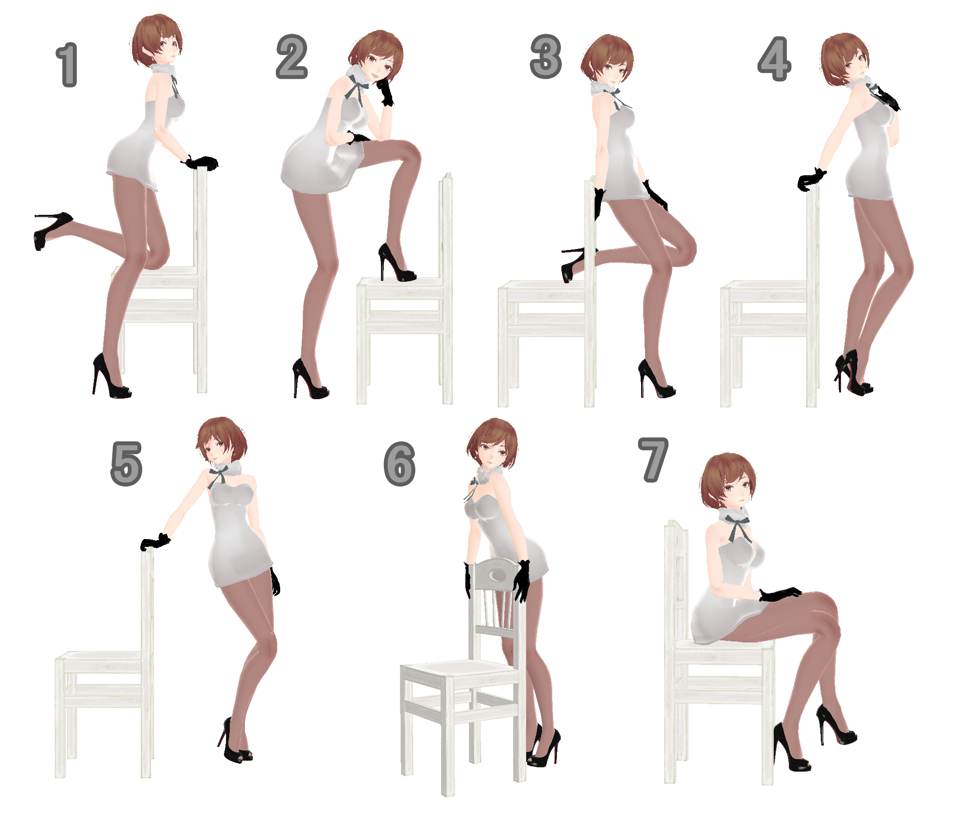Anime Couple Cute Wallpaper Apk Mmd Chair Pose Pack Dl By Snorlaxin On Deviantart