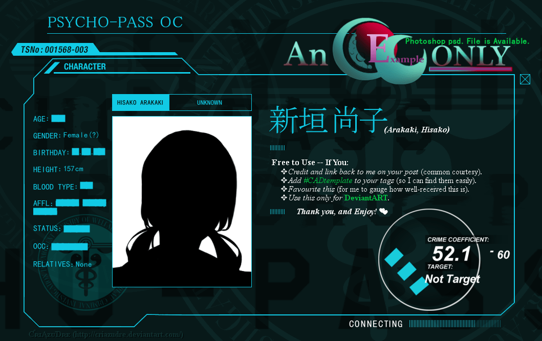 Girl 3 Monitor Wallpaper Psycho Pass Character Profile Template Gimp By