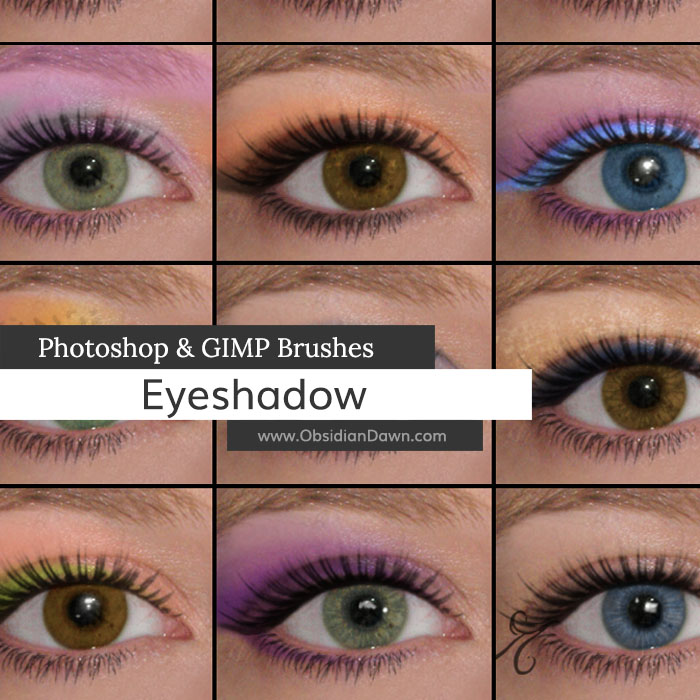 Eyeshadow Photoshop and GIMP Brushes by redheadstock on DeviantArt