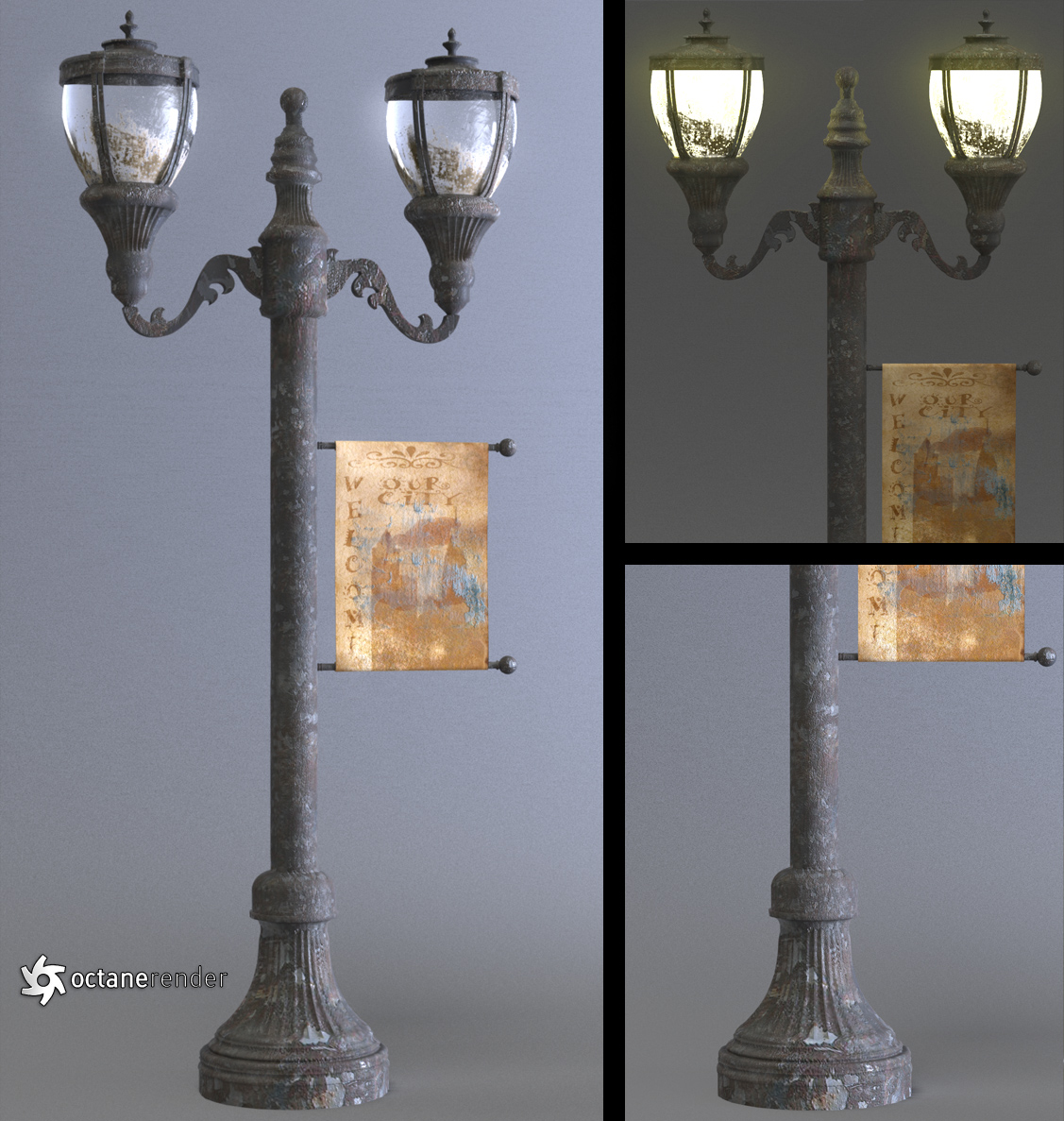 Custom Photo Wallpaper 3d Antique Street Lamp By Luxxeon On Deviantart