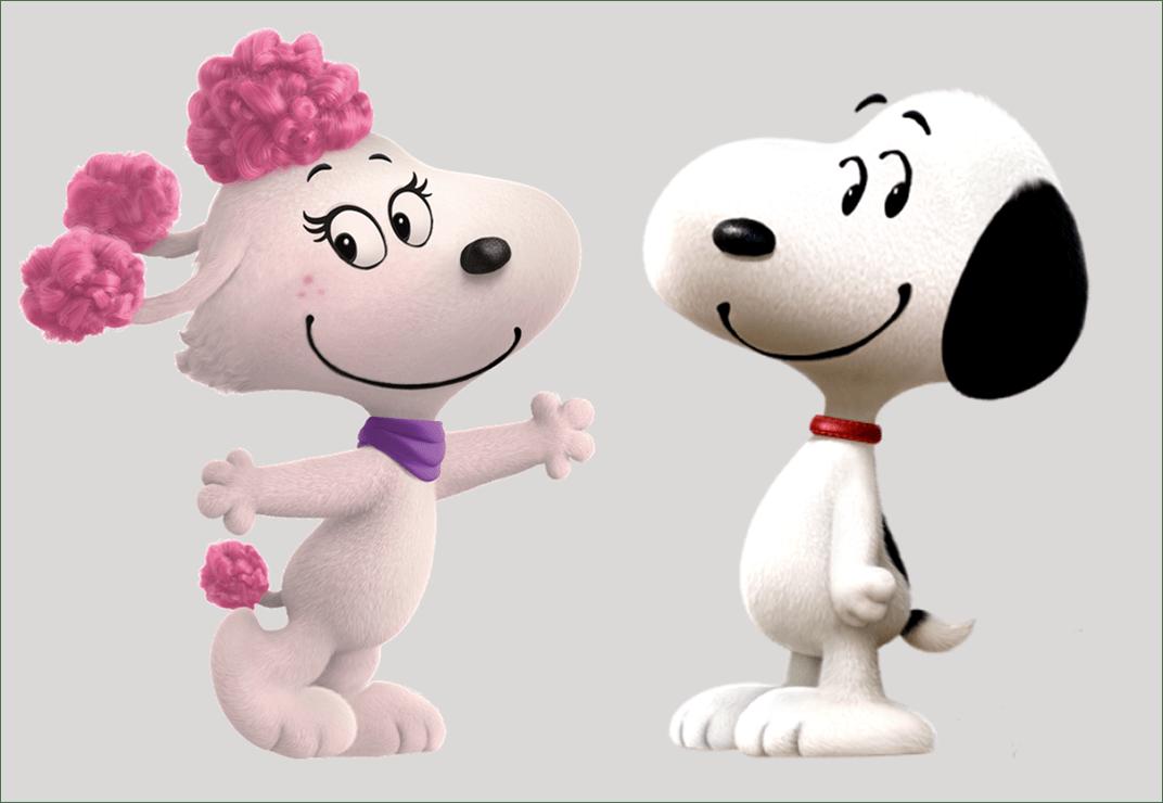 Little Peanut Girl Wallpaper Snoopy And Fifi S Date By Bloodhoundpreston On Deviantart