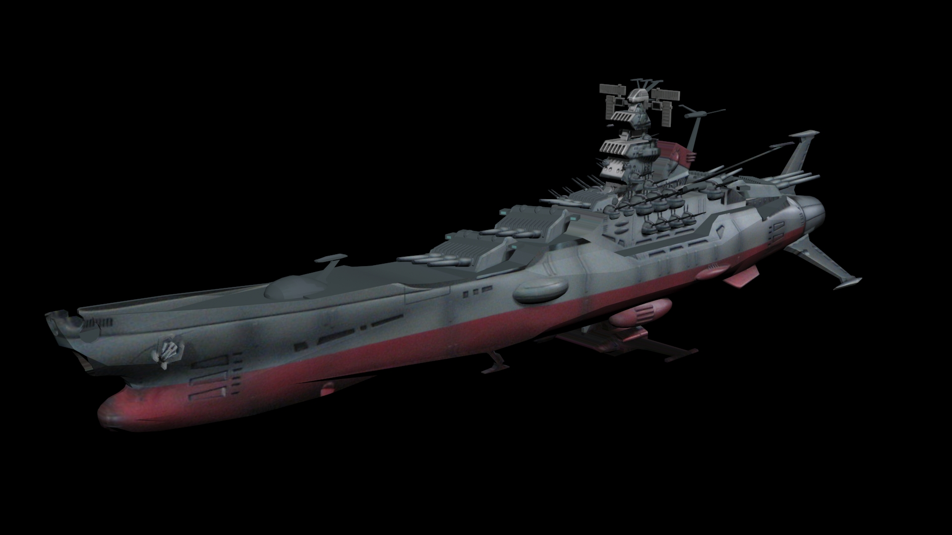 3d Modern Wallpaper Designs 3ds Max Release Space Battleship Yamato By Aequitas