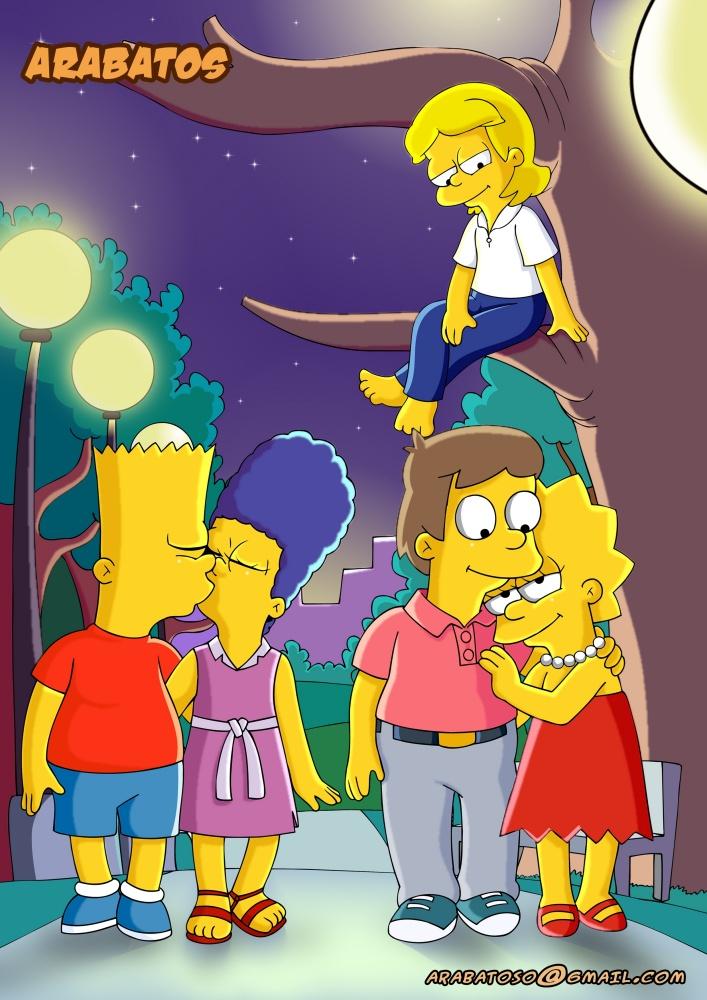 Os Simpsons Wallpaper 3d A Fleeting Incestuous Kiss By Riolu423 On Deviantart
